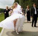 Платье подняло ветром